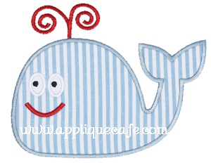 Whale 3 Applique Design