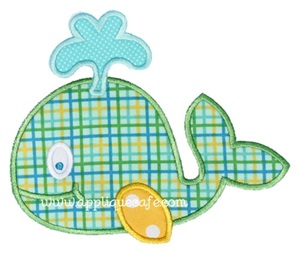 Whale 4 Applique Design