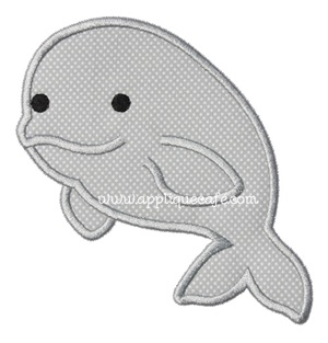 Whale 6 Applique Design