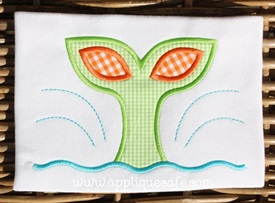 #919 Whale Tail Applique Design