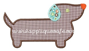 Wiener Dog Applique Design