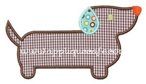Wiener Dog Applique Design