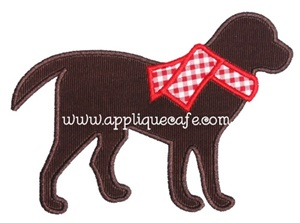 Winter Dog Applique Design