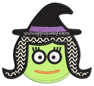Witch Face Applique Design