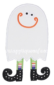 Witchy Ghost Applique Design