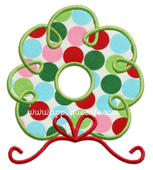 Wreath 2 Applique Design