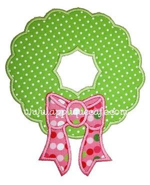 Wreath Applique Design