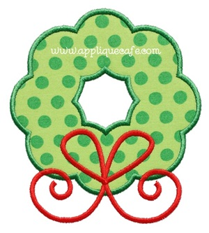 Wreath 3 Applique Design