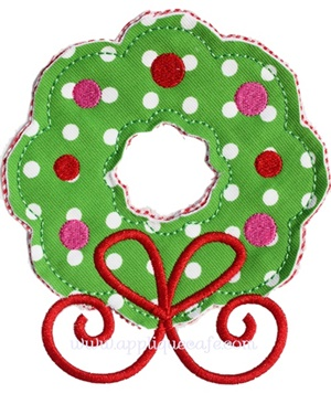 #962 Wreath 4 Applique Design