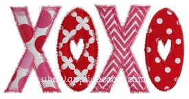 Zig Zag XOXO Applique Design