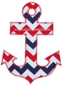 Zig Zag Anchor Applique Design
