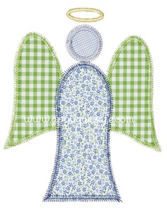 Zig Zag Angel Applique Design