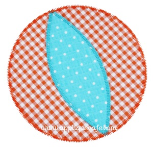 Zig Zag Beach Ball Applique Design