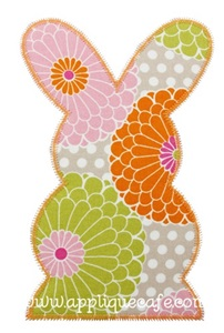 Zig Zag Bunny 2 Applique Design