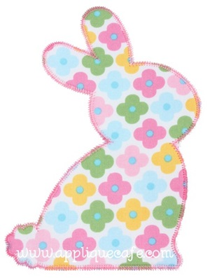 Zig Zag Bunny Applique Design