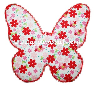 Zig Zag Butterfly 2 Applique Design