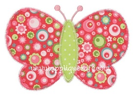 Zig Zag Butterfly Applique Design