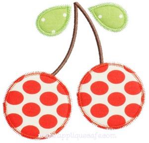 Zig Zag Cherries Applique Design