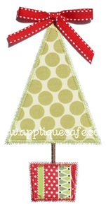 Zig Zag Christmas Tree 2 Applique Design