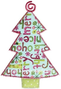 Zig Zag Christmas Tree Applique Design