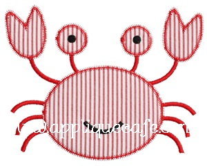 Zig Zag Crab Applique Design