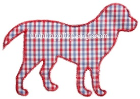 Zig Zag Dog Applique Design