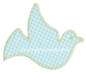 Zig Zag Dove Applique Design