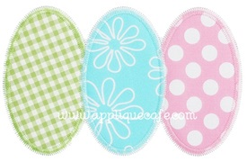 Zig Zag Egg Trio Applique Design