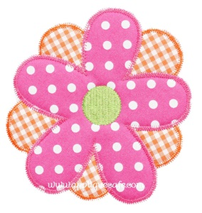 Zig Zag Flower 2 Applique Design