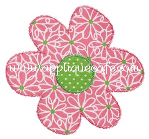Zig Zag Flower Applique Design