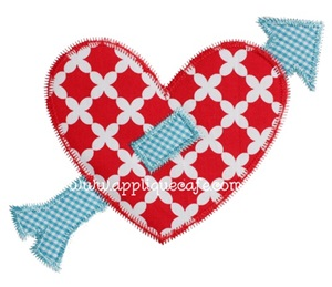 Zig Zag Heart Applique Design