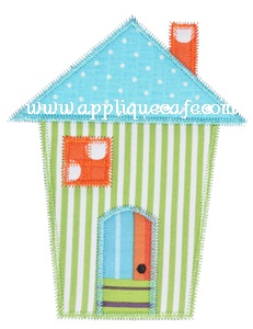 Zig Zag House Applique Design