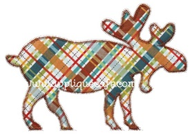 Zig Zag Moose Applique Design