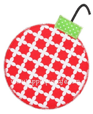 Zig Zag Ornament Applique Design