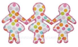 Zig Zag Paper Dolls Applique Design