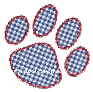 Zig Zag Paw Print Applique Design