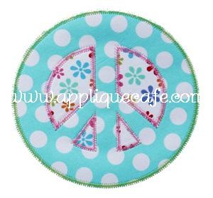 Zig Zag Peace Sign Applique Design