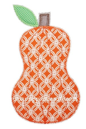 Zig Zag Pumpkin Applique Design