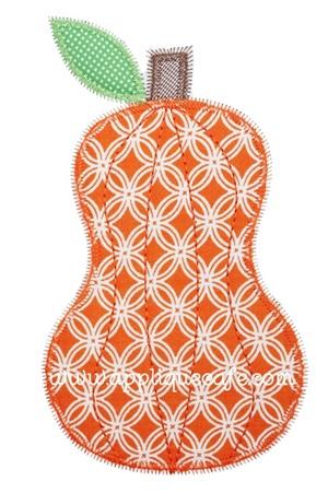 Zig Zag Pumpkin Applique Design