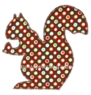 Zig Zag Squirrel Applique Design