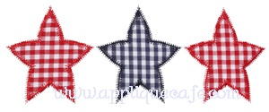 Zig Zag Stars Applique Design