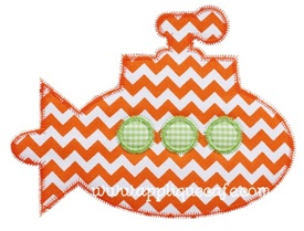 Zig Zag Submarine Applique Design