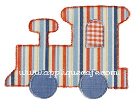 Zig Zag Train Applique Design
