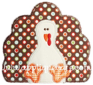 Zig Zag Turkey Applique Design