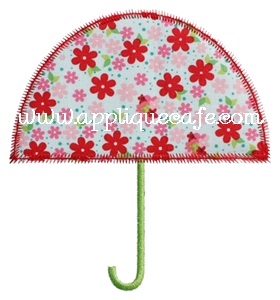 Zig Zag Umbrella Applique Design