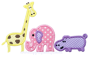 Zoo Animals Applique Design
