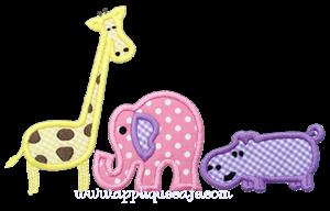 Zoo Animals Applique Design