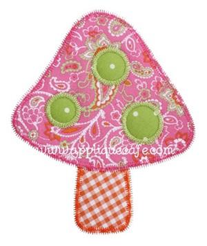 Zig Zag Mushroom Applique Design