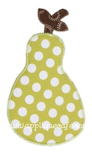 Zig Zag Pear Applique Design