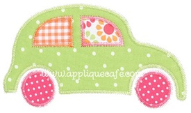 Zig Zag Car 2 Applique Design
